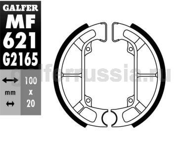 Колодка для тормозов барабанного типа MF621G2165 зад