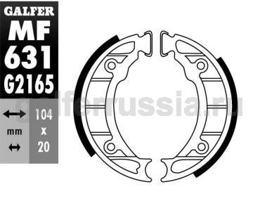 Колодка для тормозов барабанного типа MF631G2165 зад