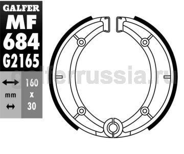 Колодка для тормозов барабанного типа MF 684 G2165 зад