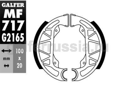 Колодка для тормозов барабанного типа MF717G2165 зад