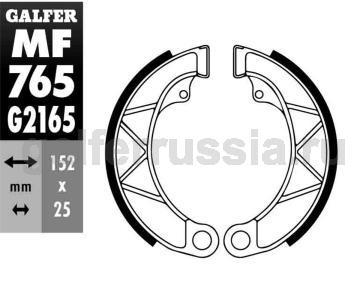 Колодка для тормозов барабанного типа MF765G2165 перед или зад
